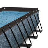 EXIT Stone zwembad 400x200x100cm met filterpomp_