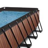 EXIT Wood zwembad 400x200x100cm met filterpomp_