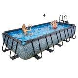 EXIT Stone zwembad 540x250x100cm met zandfilterpomp_