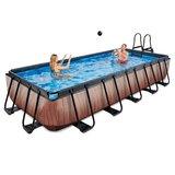 EXIT Wood zwembad 540x250x100cm met zandfilterpomp_