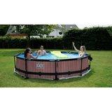 EXIT Wood zwembad ø360x76cm met filterpomp_
