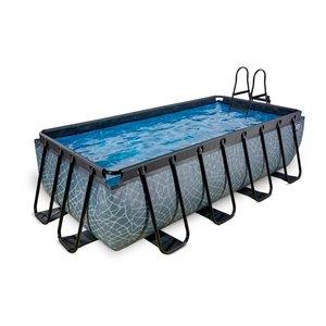 EXIT Stone zwembad 400x200x100cm met filterpomp