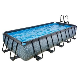 EXIT Stone zwembad 540x250x100cm met filterpomp