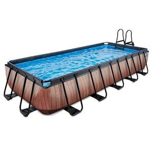 EXIT Wood zwembad 540x250x100cm met zandfilterpomp
